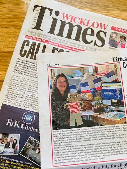 Greystones Languages for Children featured in Wicklow Times